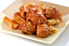Meatballs and pasta Royalty Free Stock Images
