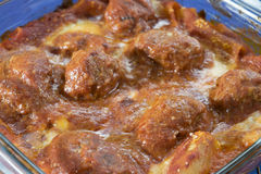 Meatballs pasta bake Royalty Free Stock Photos