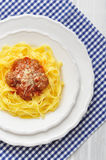 Meatballs with pasta Stock Photography