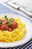 Meatballs with pasta Stock Photo