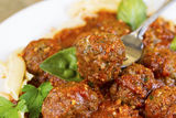 Meatballs and Pasta Ready to Eat Royalty Free Stock Photography