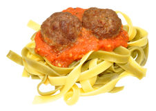 Meatballs And Pasta Royalty Free Stock Photos