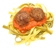 Meatballs And Pasta Stock Images