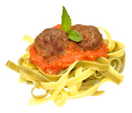 Meatballs And Pasta Stock Image