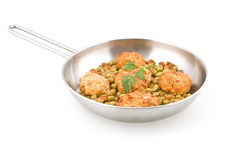 Meatballs with peas Royalty Free Stock Photos