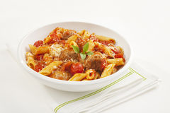 Meatballs with Penne Pasta Royalty Free Stock Photo