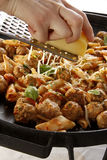 Meatballs and penne rigatte Stock Photography
