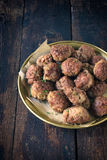 Meatballs in the plate Stock Photo