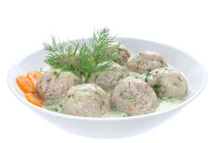 Meatballs of pork and rice Royalty Free Stock Photo