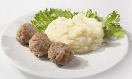 Meatballs and potato Stock Photo