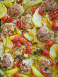 Meatballs and potatoes. Royalty Free Stock Photos