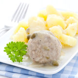 Meatballs and potatoes Royalty Free Stock Images