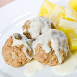 Meatballs with potatoes Royalty Free Stock Photo