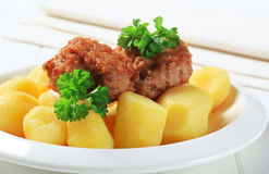 Meatballs with potatoes Stock Image