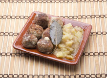 Meatballs and potatoes Stock Photo