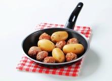 Meatballs and potatoes Stock Photo