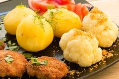 Meatballs with potatos Royalty Free Stock Photos