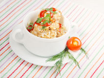 Meatballs with rice Stock Image