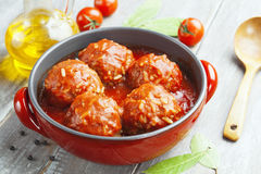 Meatballs with rice Stock Photos