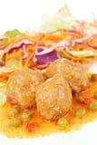 Meatballs with salad Stock Photo