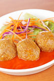 Meatballs with salad Royalty Free Stock Photo