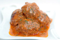 Meatballs in sauce Stock Photo