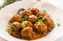 Meatballs in Sauce Stock Image