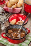 Meatballs in the sauce. Stock Image