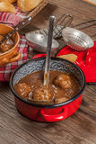 Meatballs in the sauce. Stock Photo