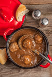 Meatballs in the sauce. Royalty Free Stock Photos