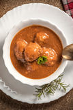 Meatballs in the sauce. Stock Images