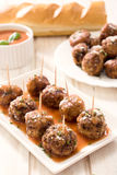 Meatballs in the sauce Stock Photography