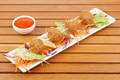 Meatballs skewer Royalty Free Stock Photos