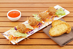 Meatballs skewer Royalty Free Stock Photography