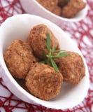 Meatballs. Some fresh meatballs in a bowl stock photos