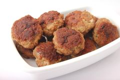 Meatballs. Some fresh meatballs in a bowl royalty free stock photography