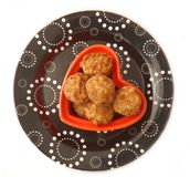 Meatballs. Some fresh meatballs made of minced meat Royalty Free Stock Photo