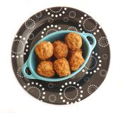 Meatballs. Some fresh meatballs made of minced meat Stock Images