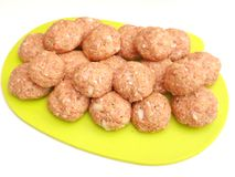 Meatballs. Some fresh meatballs on a plate royalty free stock photos