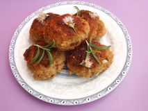 Meatballs. Some fresh meatballs with spices royalty free stock image