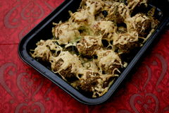 Meatballs. Some fried meatballs of minced meat with cheese stock images