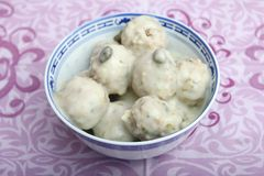 Meatballs. Some meatballs with a sauce of capers royalty free stock photos