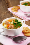 Meatballs soup Royalty Free Stock Photography