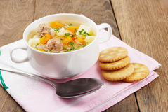 Meatballs soup Royalty Free Stock Photo