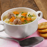 Meatballs soup Royalty Free Stock Image