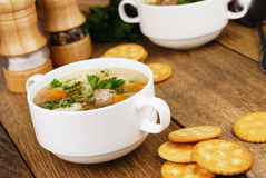 Meatballs soup Stock Photography