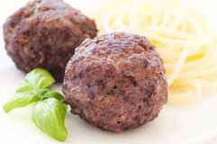 Meatballs with Spaghetti Royalty Free Stock Photography