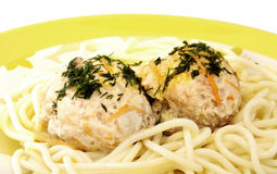 Meatballs with spaghetti Stock Photo