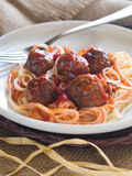 Meatballs and spaghetti Stock Image