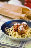 Meatballs spaghetti Royalty Free Stock Photo